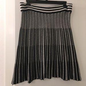Catherine Malandrino Black & White Sweater Skirt